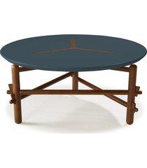 mesa de centro twist 761 cacau/azul noite - maxima