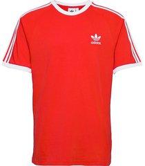 adicolor classics 3-stripes tee t-shirts short-sleeved röd adidas originals