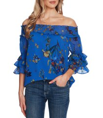women's cece floral off the shoulder top