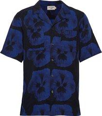 calumn p overhemd met korte mouwen blauw tiger of sweden jeans