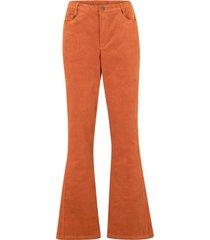 pantaloni a zampa di velluto elasticizzato con cinta comfort (marrone) - bpc bonprix collection