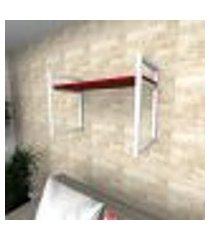 prateleira industrial para sala aço preto prateleiras 30 cm vermelho escuro modelo indb03vrsl