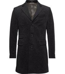 wesley coat wollen jas lange jas grijs morris
