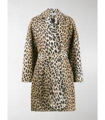 balenciaga leopard print oversized coat