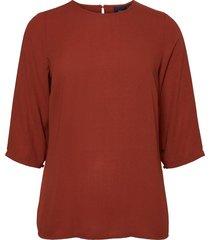 blouse met 3/4 mouwen ronde hals