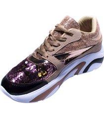 tenis sneakers rosa murano shoes lentejuelas rosa