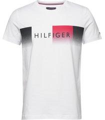 th cool hilfiger fade tee t-shirts short-sleeved vit tommy hilfiger