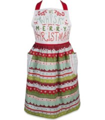 design imports whisk merry x-mas skirt apron