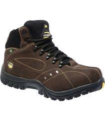 bota coturno adventure boots nobuck castor