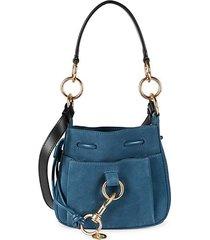 mini tony leather & suede bucket bag