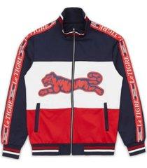 le tigre men's new tri color track jacket