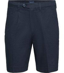 d1. structured cotton pleat shorts shorts chinos shorts blå gant