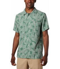 camisa lakeside trail verde columbia