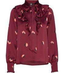 tekla blouse coral blouse lange mouwen rood twist & tango