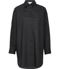 larkin over d shirt overhemd met lange mouwen zwart second female