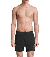 john varvatos men's malibu swim trunks - green - size 30