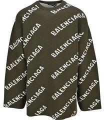 balenciaga all-over logo sweater