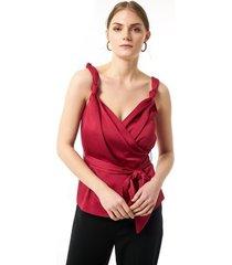 blouse jimmy sanders 19sshtw53022bordeaux blouse