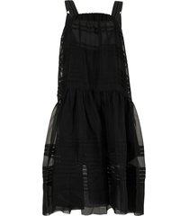 lee mathews andes drop-waist dress - black