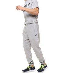 pantalón gris reebok classic cl ft jogger