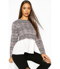 boucle high neck shirt, lilac