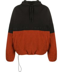 perks and mini halfway final frontier two-tone hoodie - black