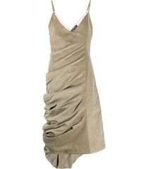 y/project gathered corduroy dress - neutrals