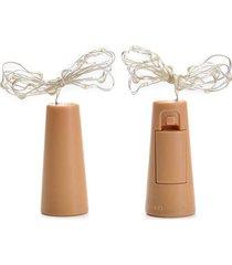 cordão de luz l3 store - rolha com luz para garrafa - branca