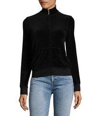 velour zip up sweatshirt