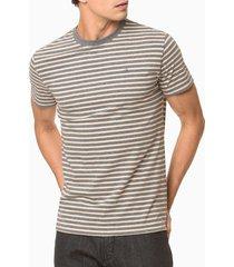camiseta slim listrado sustentavel exc - grafite - p