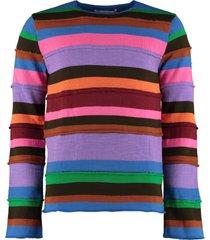 comme des garçons shirt wool blend sweater