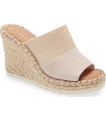 women's toms monica wedge slide sandal, size 7 b - pink