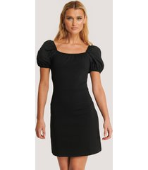 trendyol balloon sleeve mini dress - black