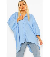 oversized blouse met rug strik, pale blue