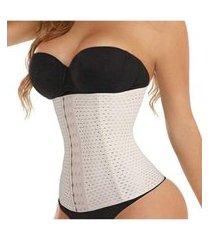 cinta feminina modeladora alta pressão afina cintura linda creme