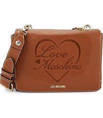 borsa logo faux leather crossbody bag