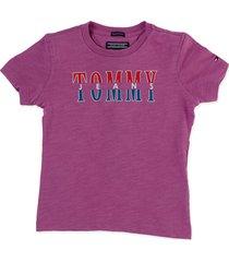 camiseta morado tommy hilfiger