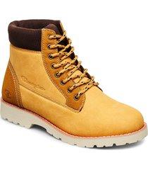 high cut shoe upstate snörade stövlar gul champion