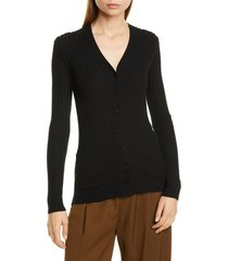 women's vince ribbed skinny cashmere cardigan