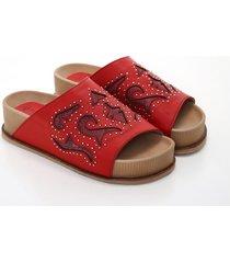 sandalia roja heyas hipon