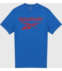 camiseta azul-rojo reebok series stacted