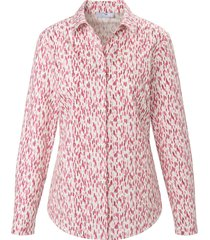 blouse van 100% katoen met lange mouwen van peter hahn wit