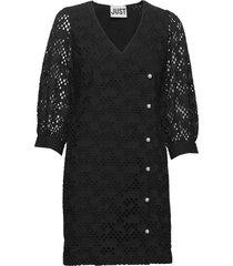 avador wrap dress kort klänning svart just female