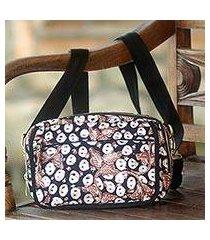 cotton batik shoulder bag and waist pack, 'copper stalk' (indonesia)