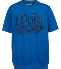 t-shirt men plus royal blue::zwart