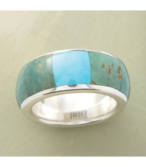 turquoise windowpane ring