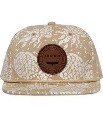 gorra beige trown headware pineapple