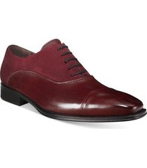 handmade men oxford burgundy shoes, men leather and suede leather dress shoes