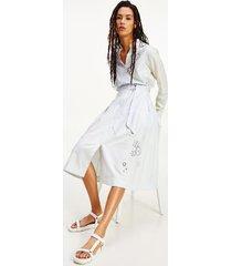 tommy hilfiger women's icon stripe broderie midi skirt ithaca stripe / multi - 4