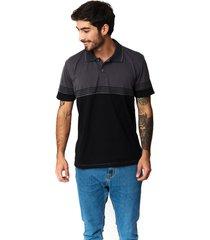 camiseta tipo polo-puntazul-gris oscuro-41452